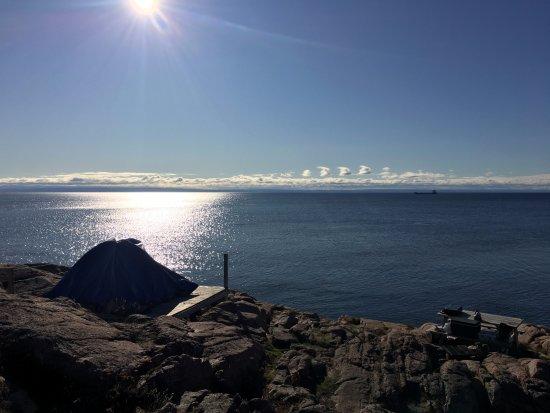Les Bergeronnes, Canada: Camping sur le Fleuve Saint Laurent