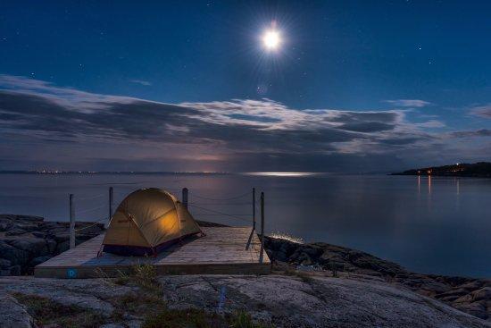 Les Bergeronnes, Canada: Nuit étoilée sur le fleuve