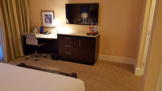 The Beverly Hilton: TV, Desk and Chest of Drawers