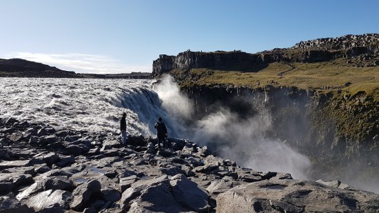 Dettifoss Waterfall You Can Walk Right To Edge Of