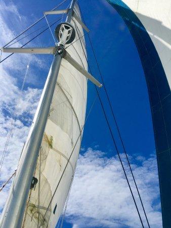 bahía de Simpson, St. Maarten: Full sails
