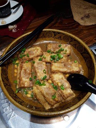 Yu MiZhou (LuoHu): Pan Fried Stuff Bean Curd (Tofu)
