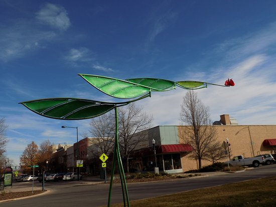 Sculpture in the city, Lincoln Park, Greeley