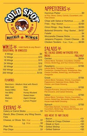 Charleston, Virginia Occidental: Page 1 Take Out Menu