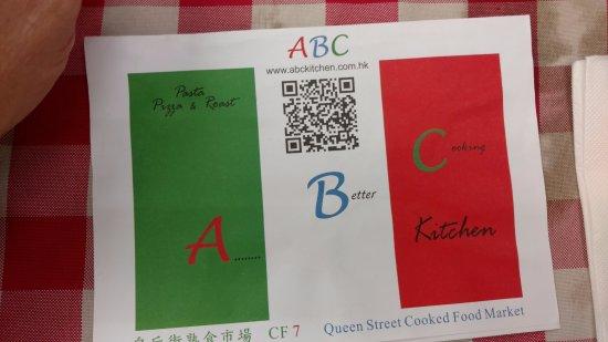 Menu Cover - Picture of ABC Kitchen, Hong Kong - TripAdvisor