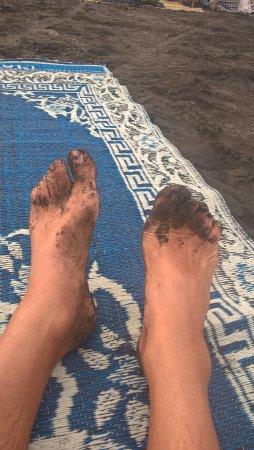Parangtritis, Ινδονησία: Sable noir