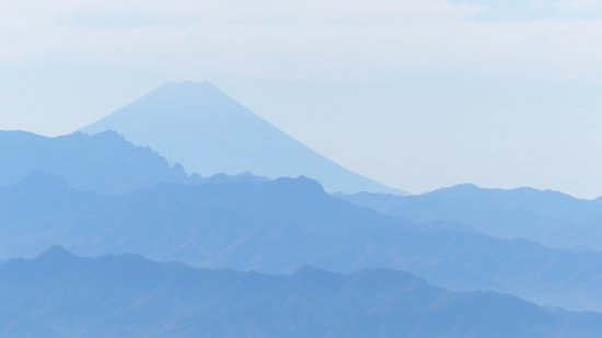 Tomi, Japan: Mt Fiji viewed in the distance from the crater rim