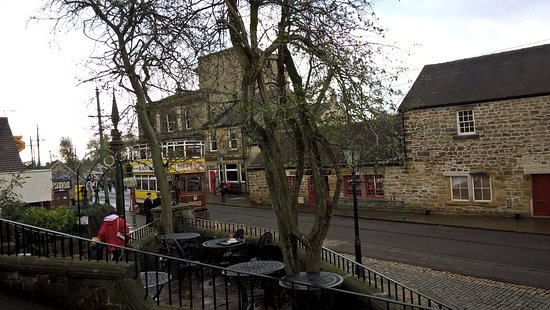 Matlock, UK: View from the Red Lion pub at Crich Tramway Village
