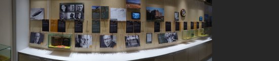 Bawdsey, UK: Panoramic shot of some wall exhibits