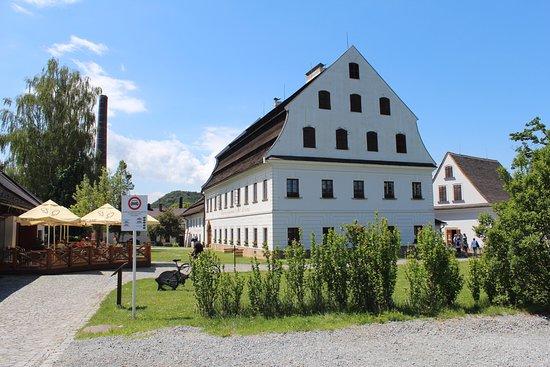 Velke Losiny, Tsjekkia: Paper Mill in Summer time