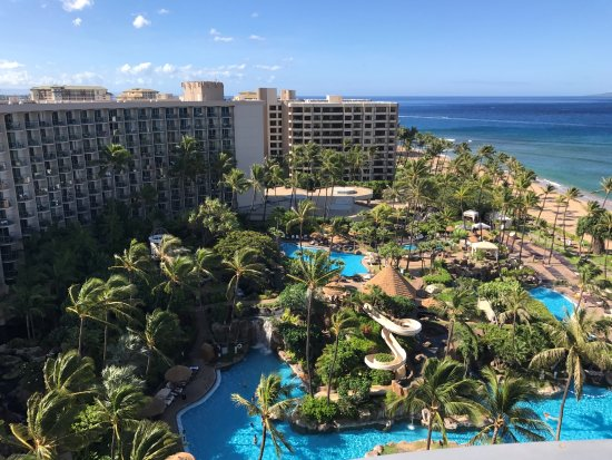 The Westin Maui Resort & Spa, Ka'anapali: A view of the pool (s) from the 11th floor in the tower.