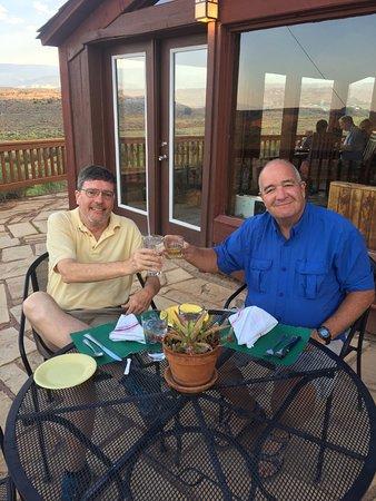 Torrey, UT: Dining on the patio