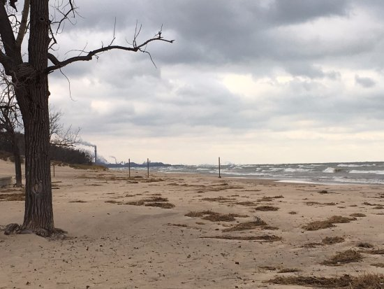Chesterton, IN: shoreline facing Chicago