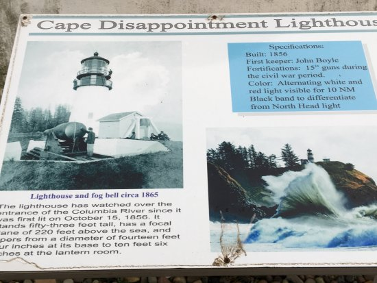 Ilwaco, Ουάσιγκτον: Cape Disappointment Lighthouse