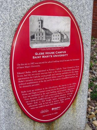 St. Mary's Basilica: plaque
