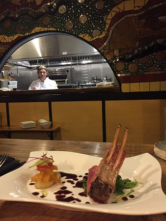 Hopland, CA: rack of lamb with chef patrick oliver martin