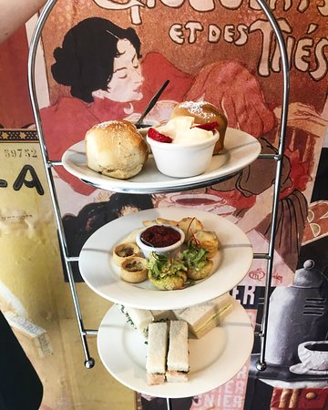 Coco Monde Chocolateria: High Tea is served in two courses: one savoury and one sweet