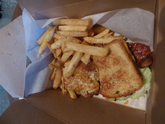 New Market, MD: BLT with Cheese and fries