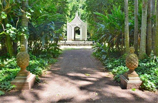 """Allerton Garden: Entrance to the landcape """"room"""" areas"""