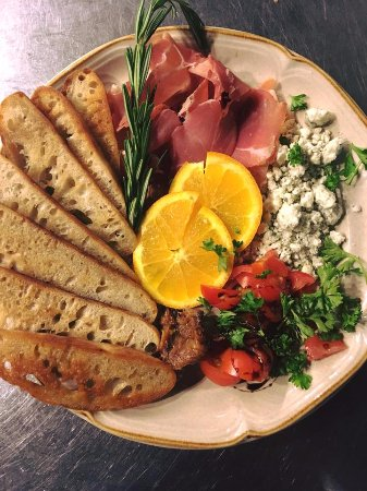 Superior, WI: some imported meats and cheeses with grilled bread