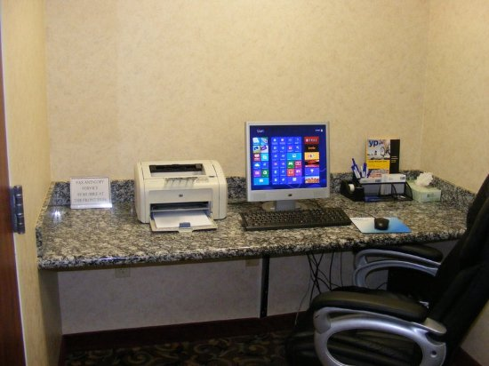 Muskogee, OK: Enjoy our business center equipped with a printer and workstation.