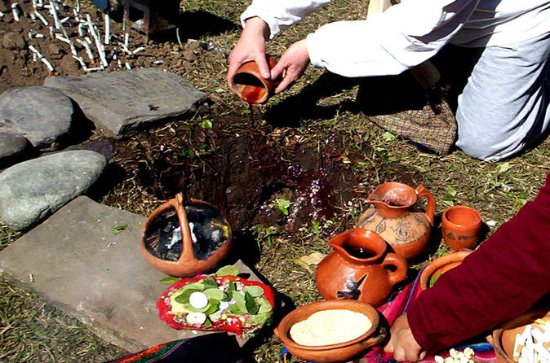 Shamanic Ceremony  Offering to the...