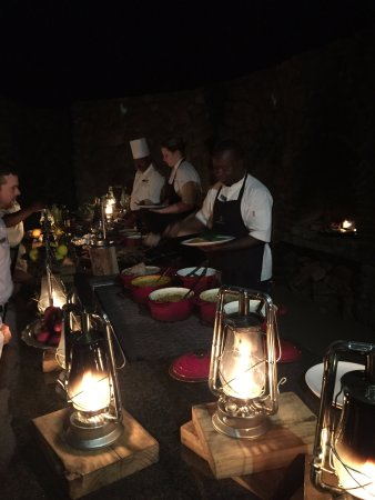 Londolozi Private Game Reserve, Sudáfrica: Dinner