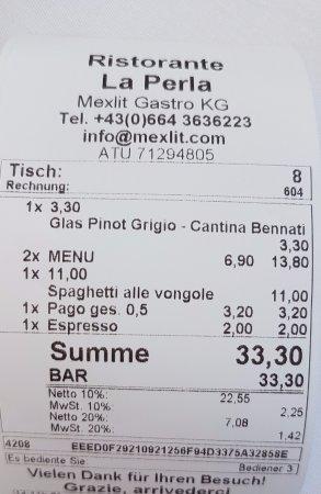 Schwaz, ออสเตรีย: Rechnung