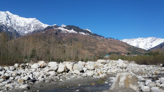 Solang Valley Beas River And Glacier View From Hotel Allure Grand