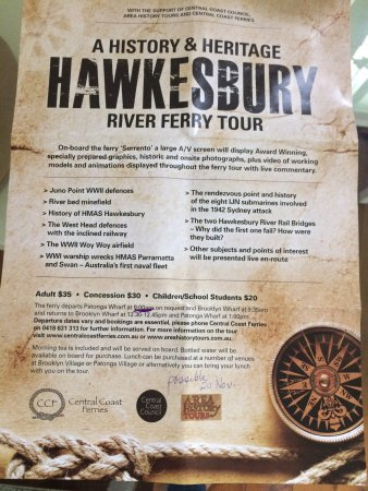 Image result for History & Heritage Hawkesbury River Ferry Tour