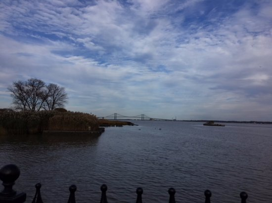 View of the water at Battery Park.