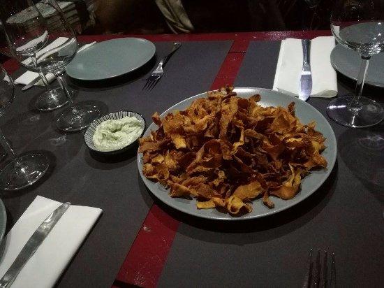 Proenca-a-Nova, Portugal: Chips de batata doce