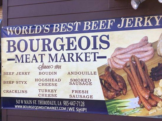 Thibodaux, Луизиана: Bourgeois Meat Market