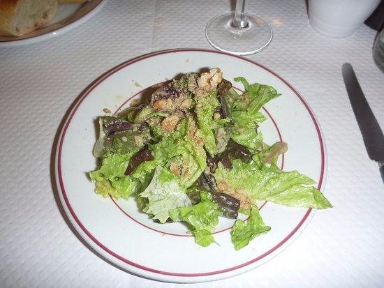 Le Relais de Venise: 前菜のサラダ