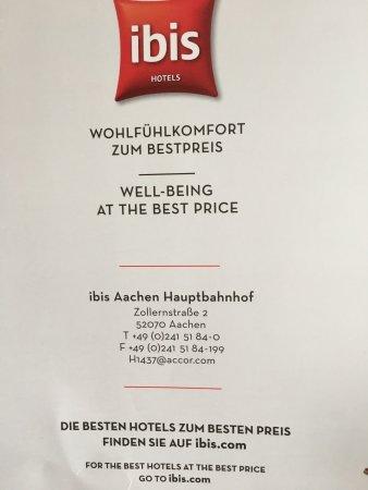 Address Picture of Ibis Aachen Hauptbahnhof Aachen TripAdvisor