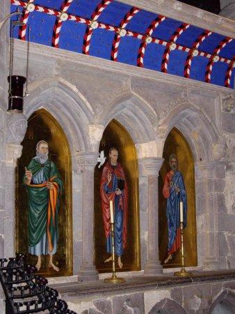 St Davids, UK: recently restored icons