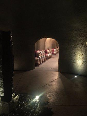 Quintessa Winery: Quintessa wine cellar