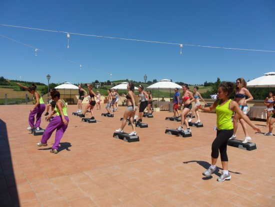 Cereseto, Italia: fitness in terrazza