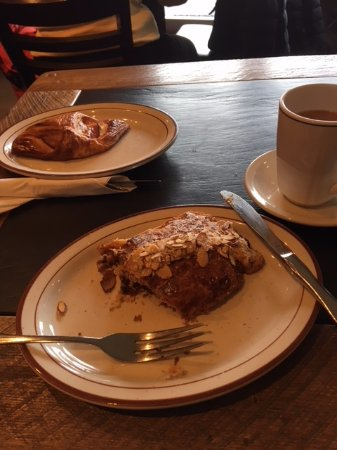 Birmingham, MI: Croissants - chocolate almond and ham and cheese.