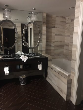 The Delavan Hotel & Spa: Harriet Suite bathroom: Double Vanity