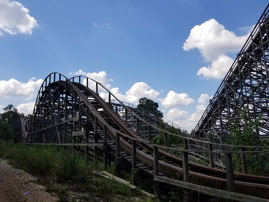 Bessemer, AL: backside of Rampage roller coaster