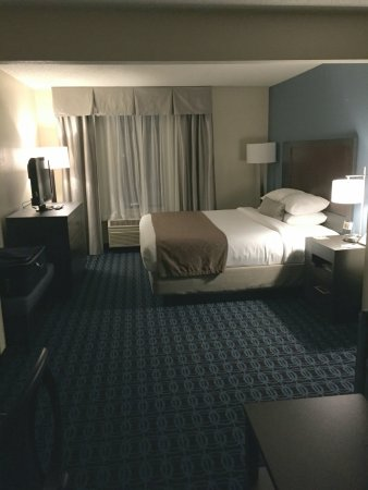 29059d41d Wingate by Wyndham Schaumburg / Convention Center: King size bed, one night  stand with