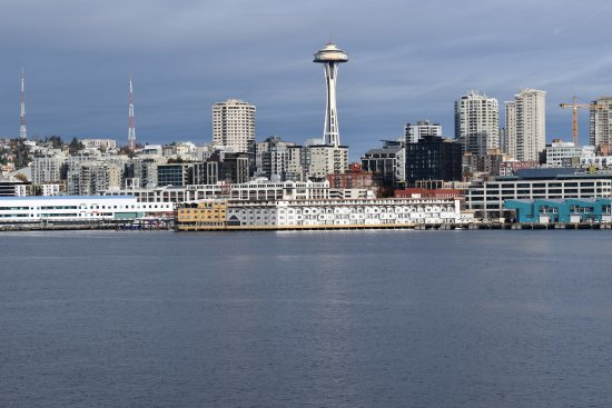 Washington State Ferries: The space needle which was being renovated this November.