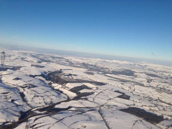 Welshpool Flying School: Snow over Wales