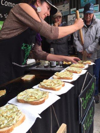 Haast, New Zealand: Yumm.... whitebait snack