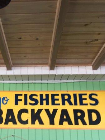 Key Largo Fisheries Backyard: Key Largo fisheries outside
