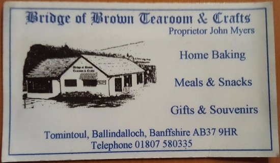 Tomintoul, UK: I still have this card 5+ years later...
