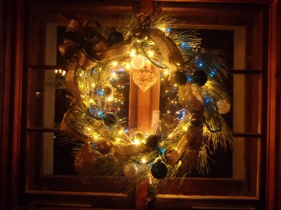 Maitre D At Trombino's: Holiday decor