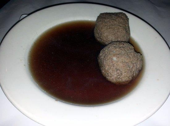 Norridge, IL: beef liver dumpling soup