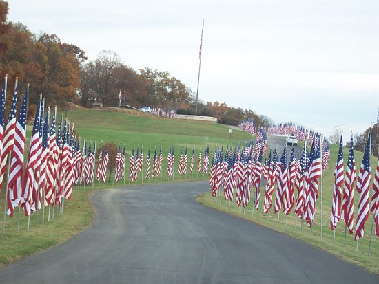 Cape Girardeau Conservation Nature Center: Veterans day flag display...they also do this on Memorial Day.